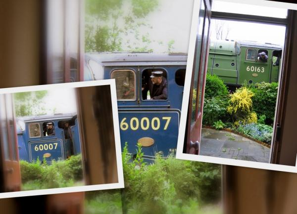 NYMR Sir Nigel Gresley and Tornado from High Mill Pickering sc accommodation