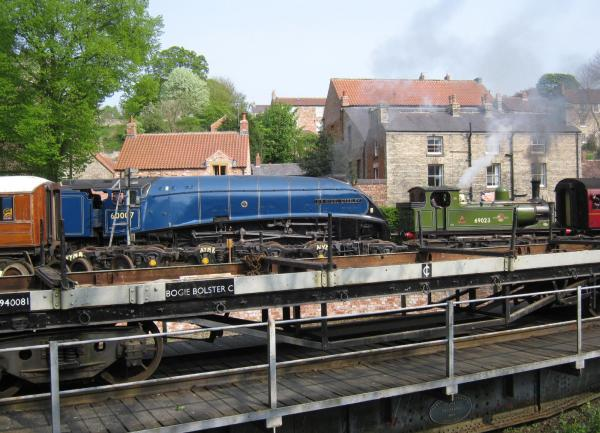 Sir Nigel Gresley at High Mill Pickering. Pickering holiday cottages