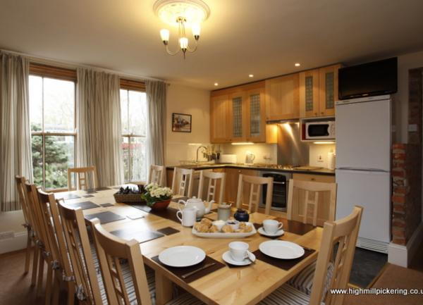 Kitchen and Diner at High Mill Pickering. Pickering holiday cottages