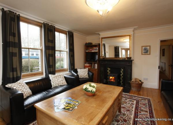 Lounge High Mill Pickering with view of Pickering Station