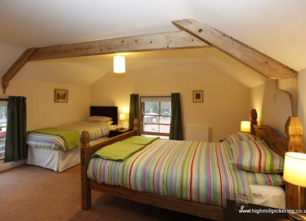 Top floor bedroom with views of Pickering Castle. Pickering holiday cottages